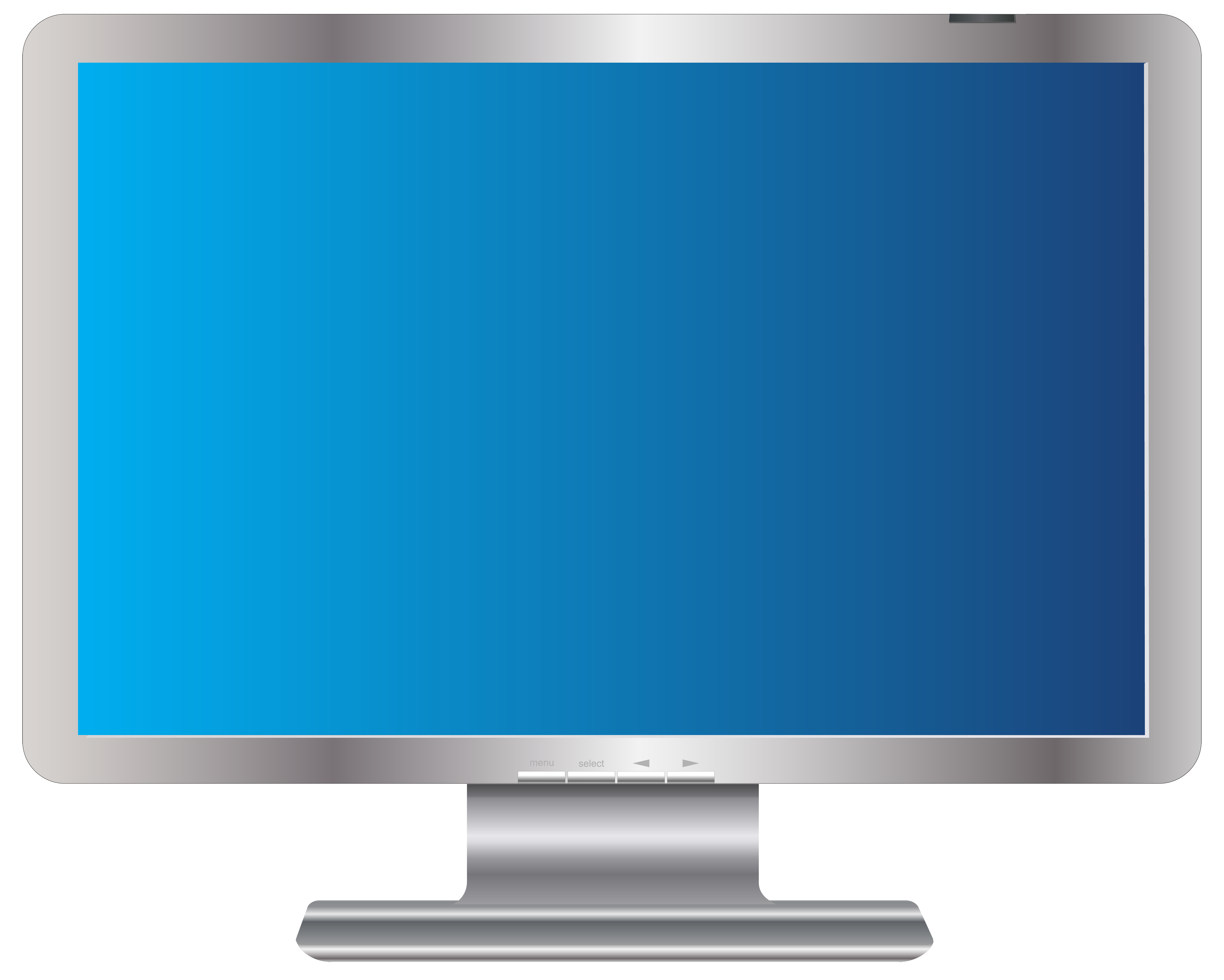PC Monitor Transparent PNG Clip Art Image.