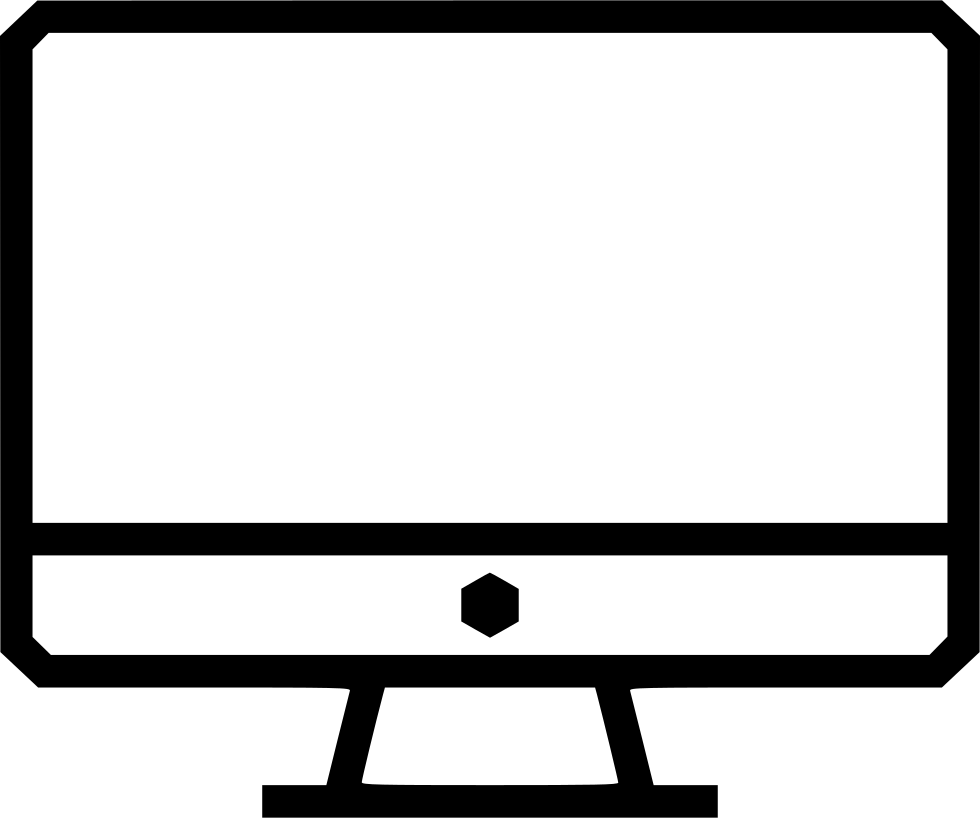 Screen Monitor Imac Computer Display Desktop Pc Svg Png Icon.