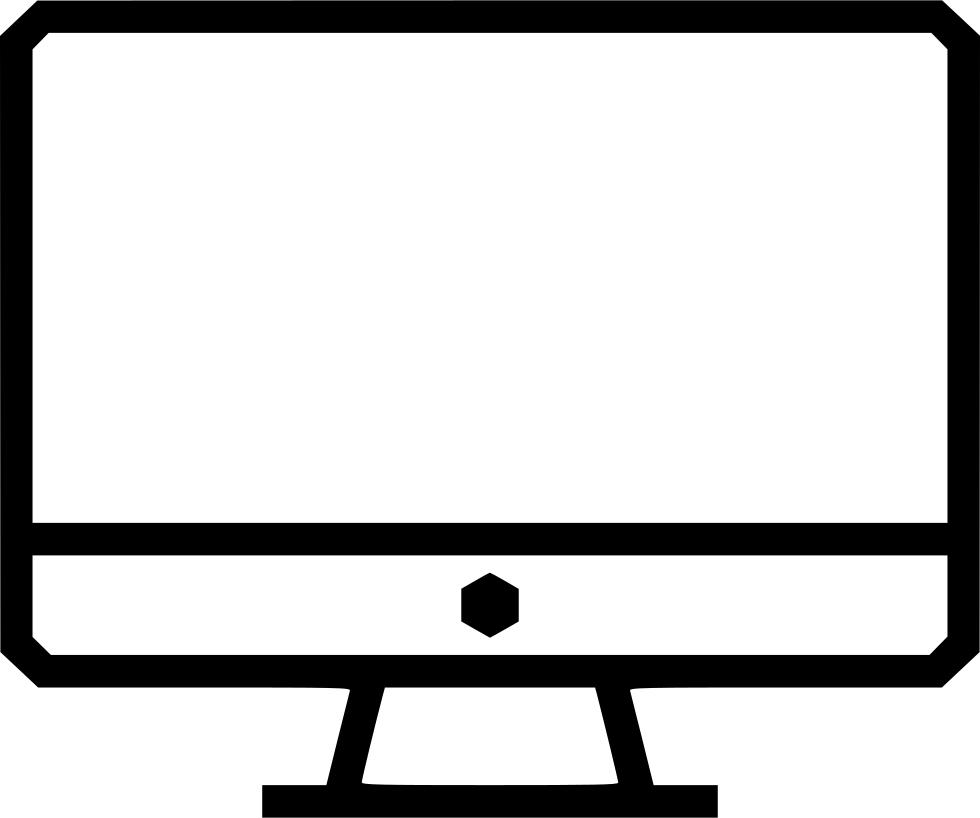 Screen Monitor Imac Computer Display Desktop Pc Svg Png Icon.
