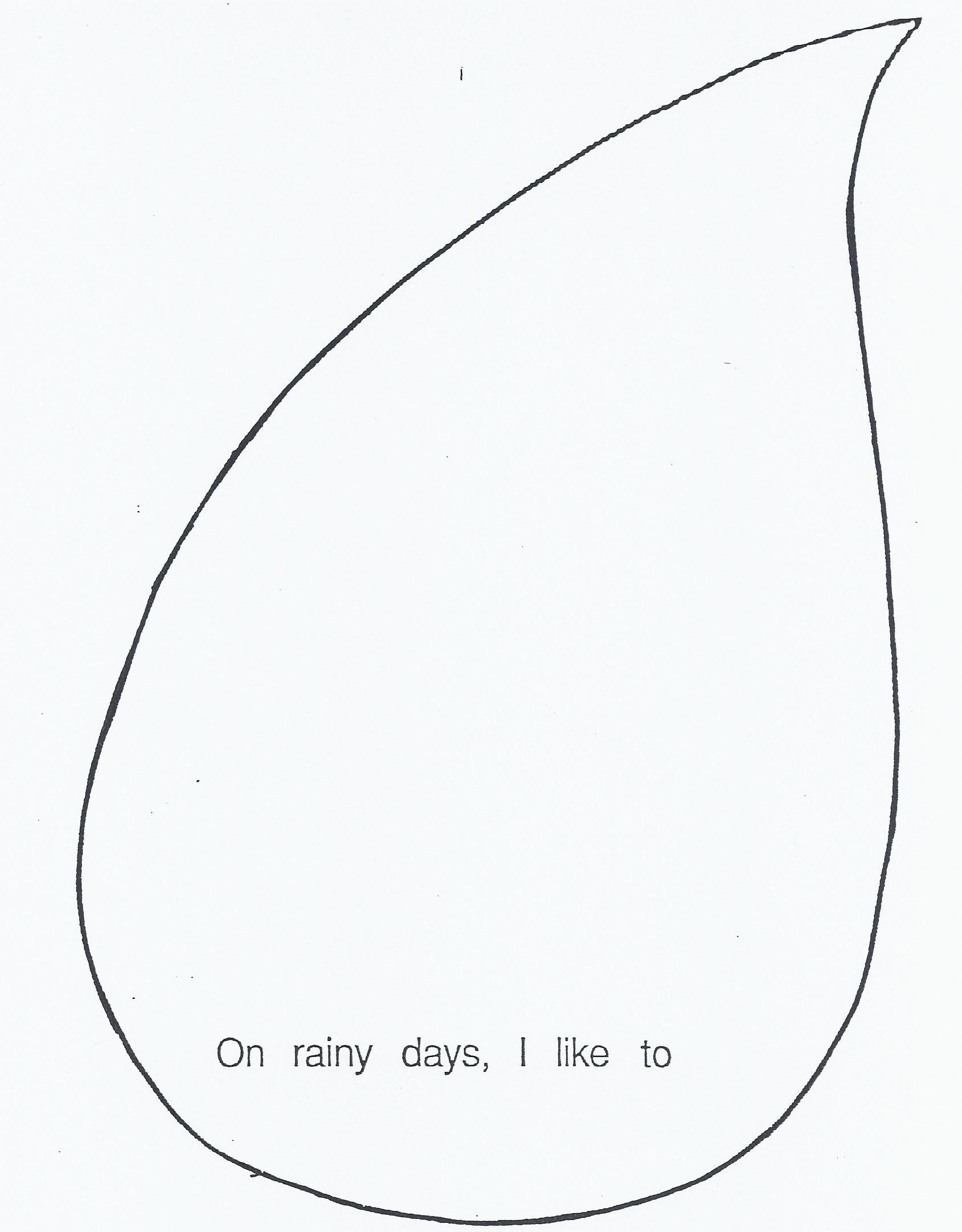 Rain Drop Template. raindrop template clipart best. raindrops.