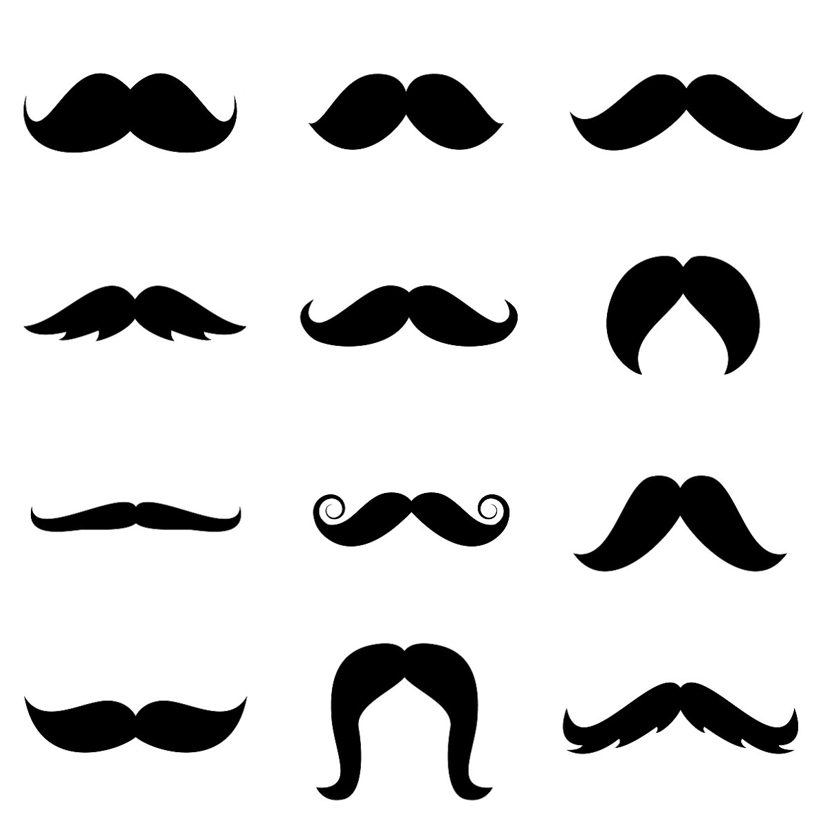 Printable Mustaches Templates.
