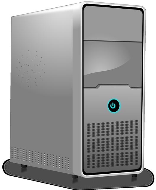 Desktop Tower Clipart.