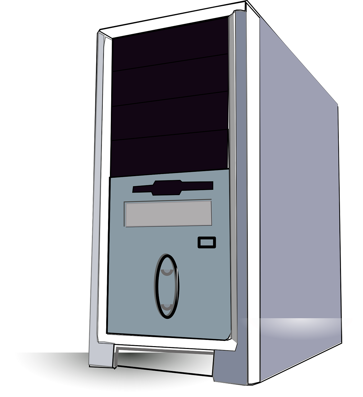 Pc tower clipart.