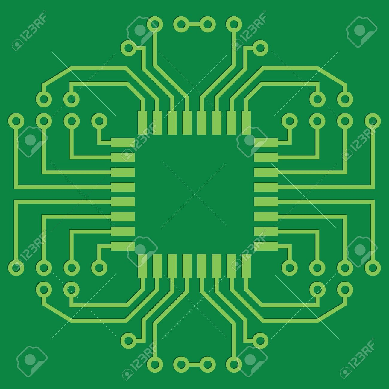 Screen Printed Circuits : Printed circuit board clipart clipground