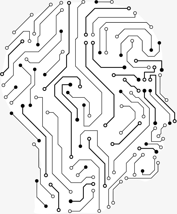 Vector Electronic Circuit Board Design Light Effect.