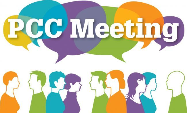 Clip art for meeting announcements: PCC Meeting.