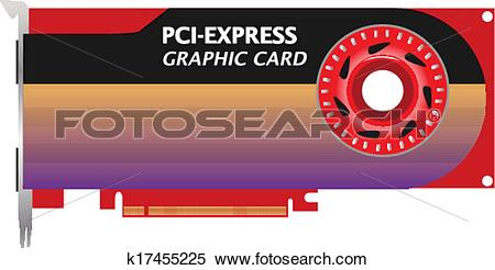 Clipart of 3d PCI.