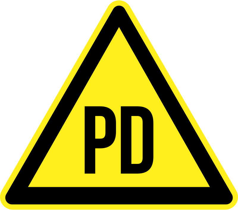 Free Clipart: PD issue Warning 2.