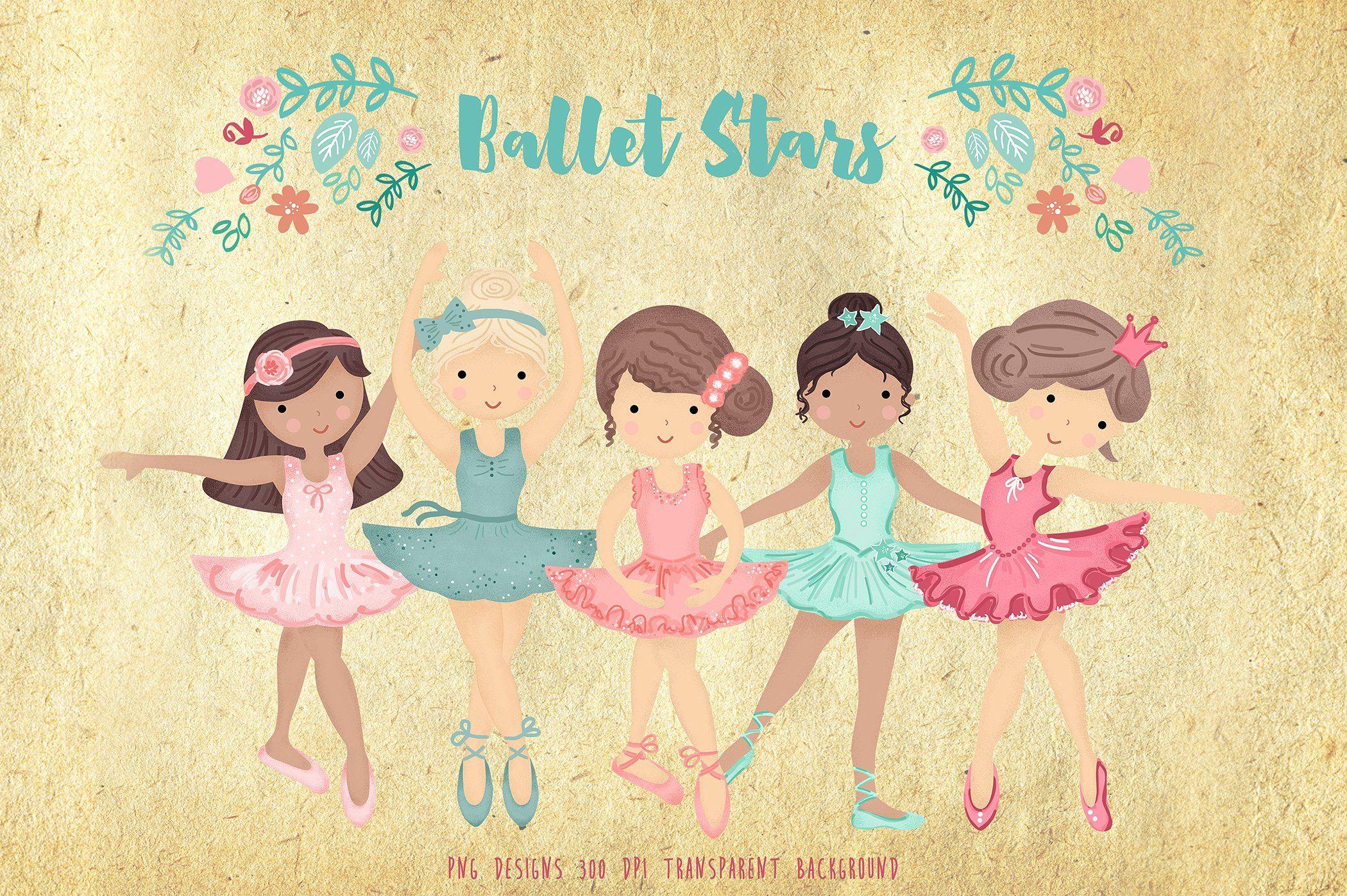 Ballerina Ballet Dancers Clipart by EasyPrint PD on.