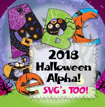 Halloween Alphabet! Clipart 3.5\