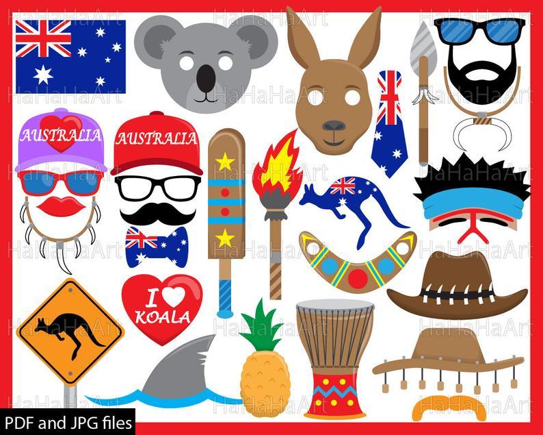 Australia clipart pdf, Australia pdf Transparent FREE for.
