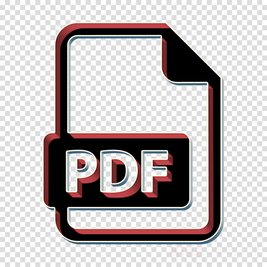 Document icon PDF File icon interface icon clipart.