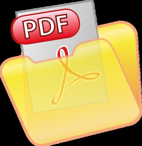 PDF document icon vector clip art.