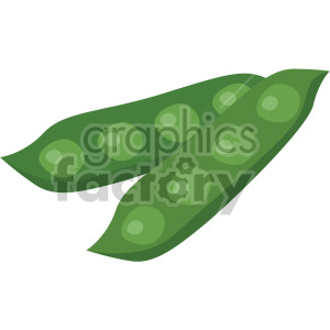 pea pods clipart. Royalty.