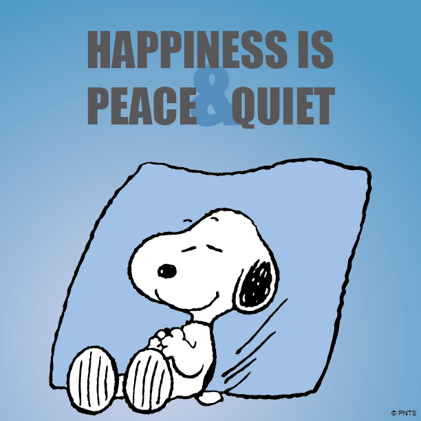 Peace and quiet clipart.