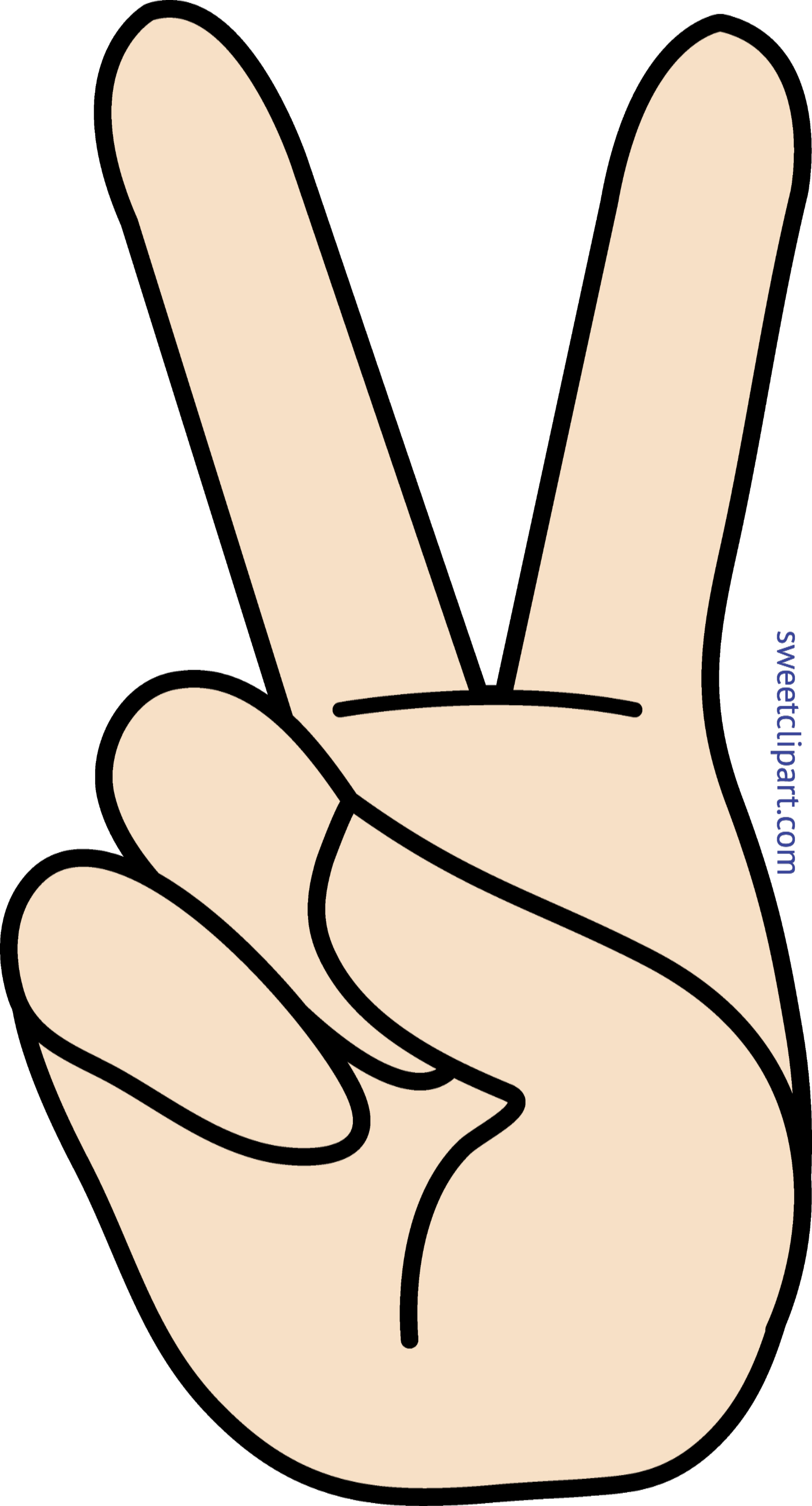 Peace Hand Sign Clip Art.