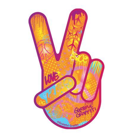 finger peace sign.
