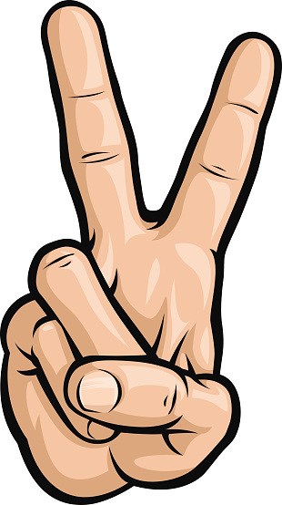 Peace Sign Fingers Clipart.