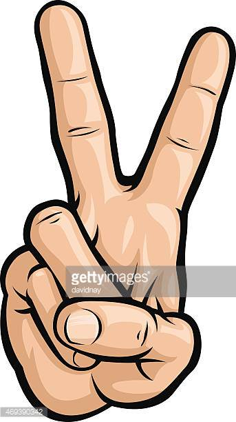 Victory Signpeace Sign Vector Art.