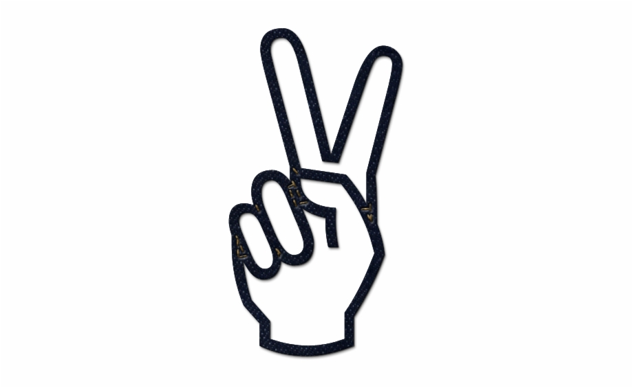 Peace Hand Symbol.