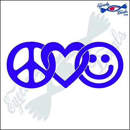 Eyecandy Decals Peace Love and Happiness 6\