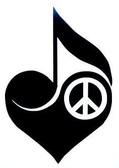 Peace Love Music Clipart.