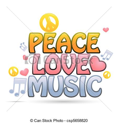 peace love music.