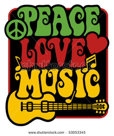 Peace Love Music Stock Images, Royalty.