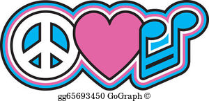 Peace Love Music Clip Art.