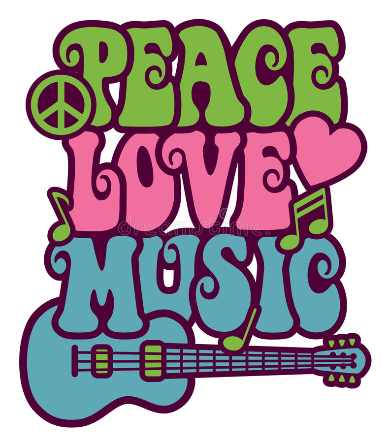 Peace Love Stock Illustrations.