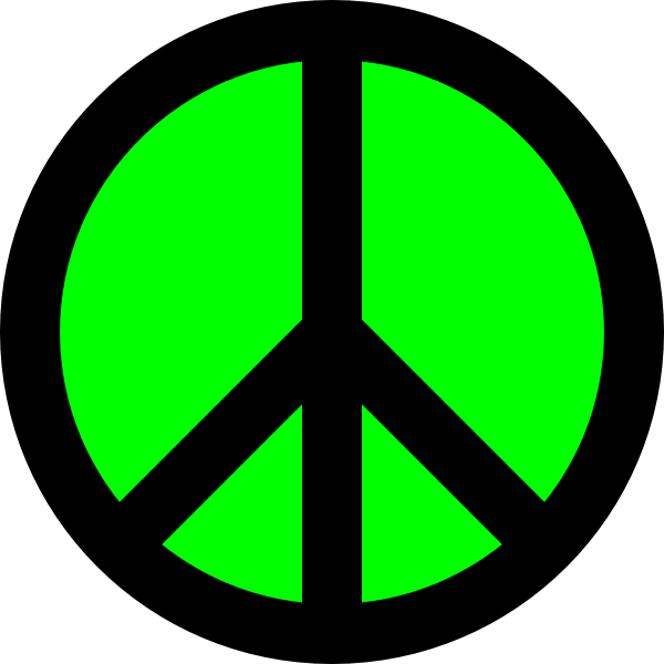 Peace Sign Template.