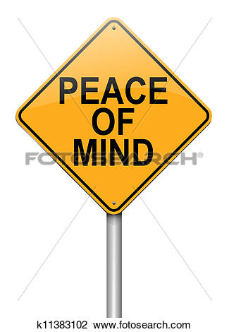 Clip Art of Peace of mind. k11383102.