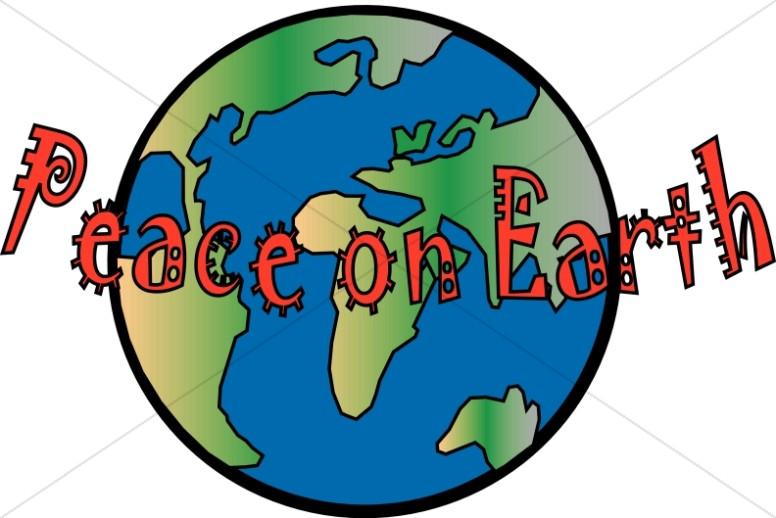 Fun Peace on Earth with Globe.