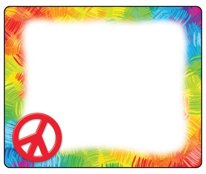 Peace sign border clipart.