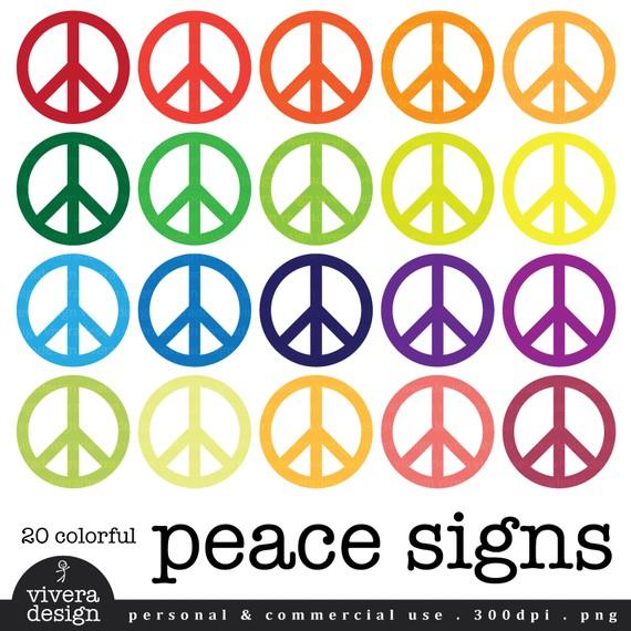 Peace Sign Border.