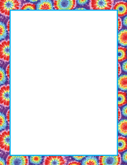 Tie Dye Border paper for sign up sheets.