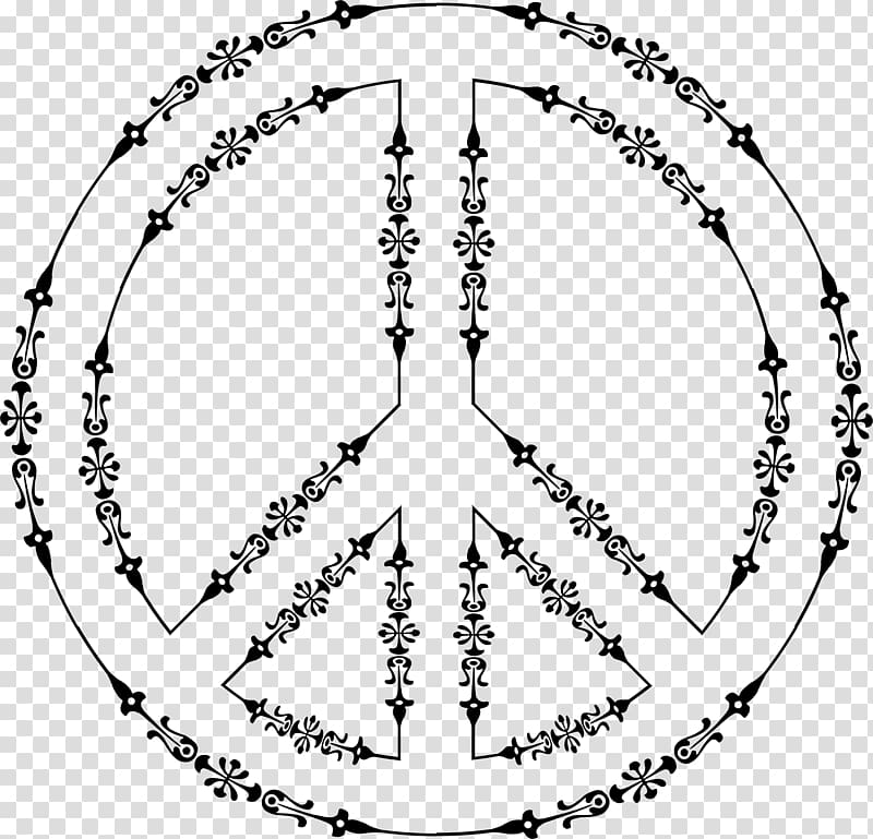 Peace symbols Line art , peace symbol transparent background.