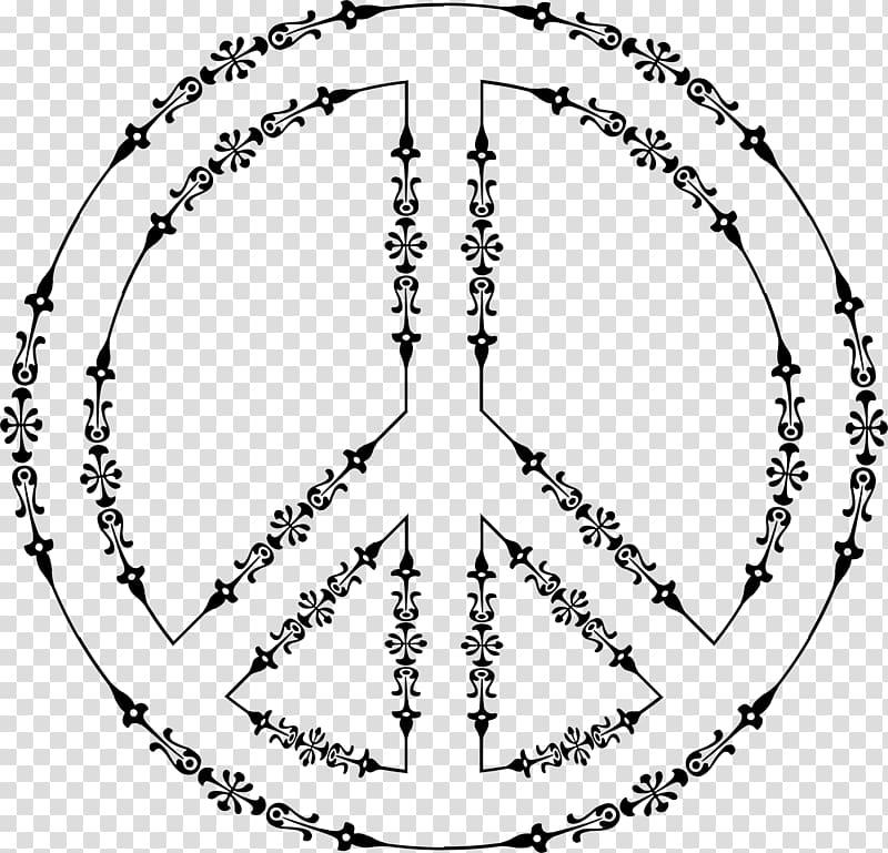 Peace symbols Line art , peace symbol transparent background.