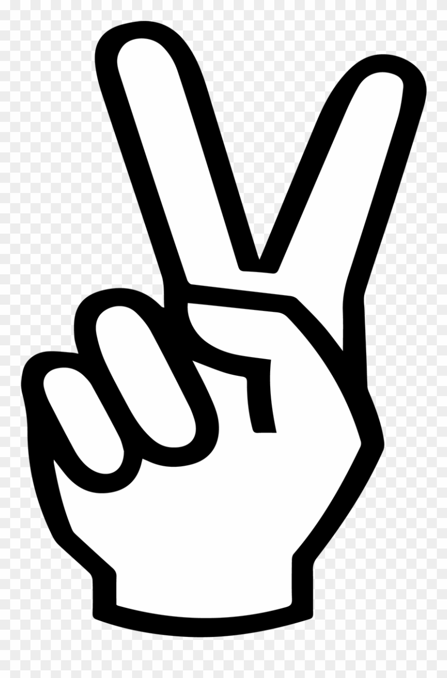 Peace Sign Hand Svg , Png Download.