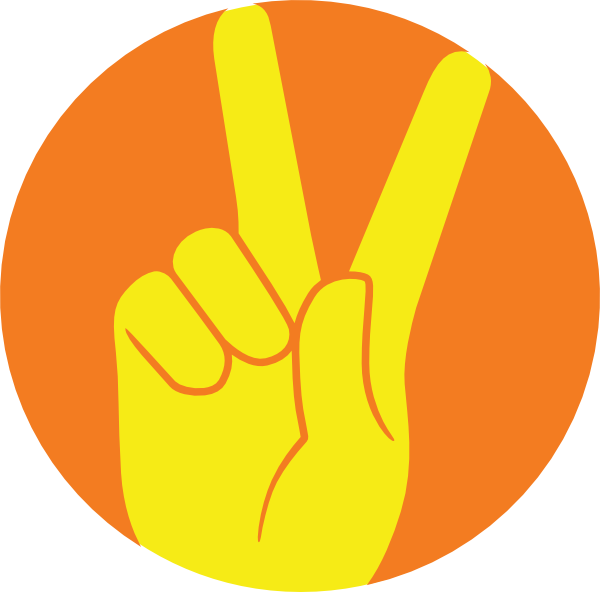 peace sign hand clipart   clipground