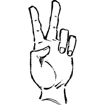 Peace sign hand clipart.