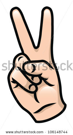 Peace Sign Fingers Stock Images, Royalty.