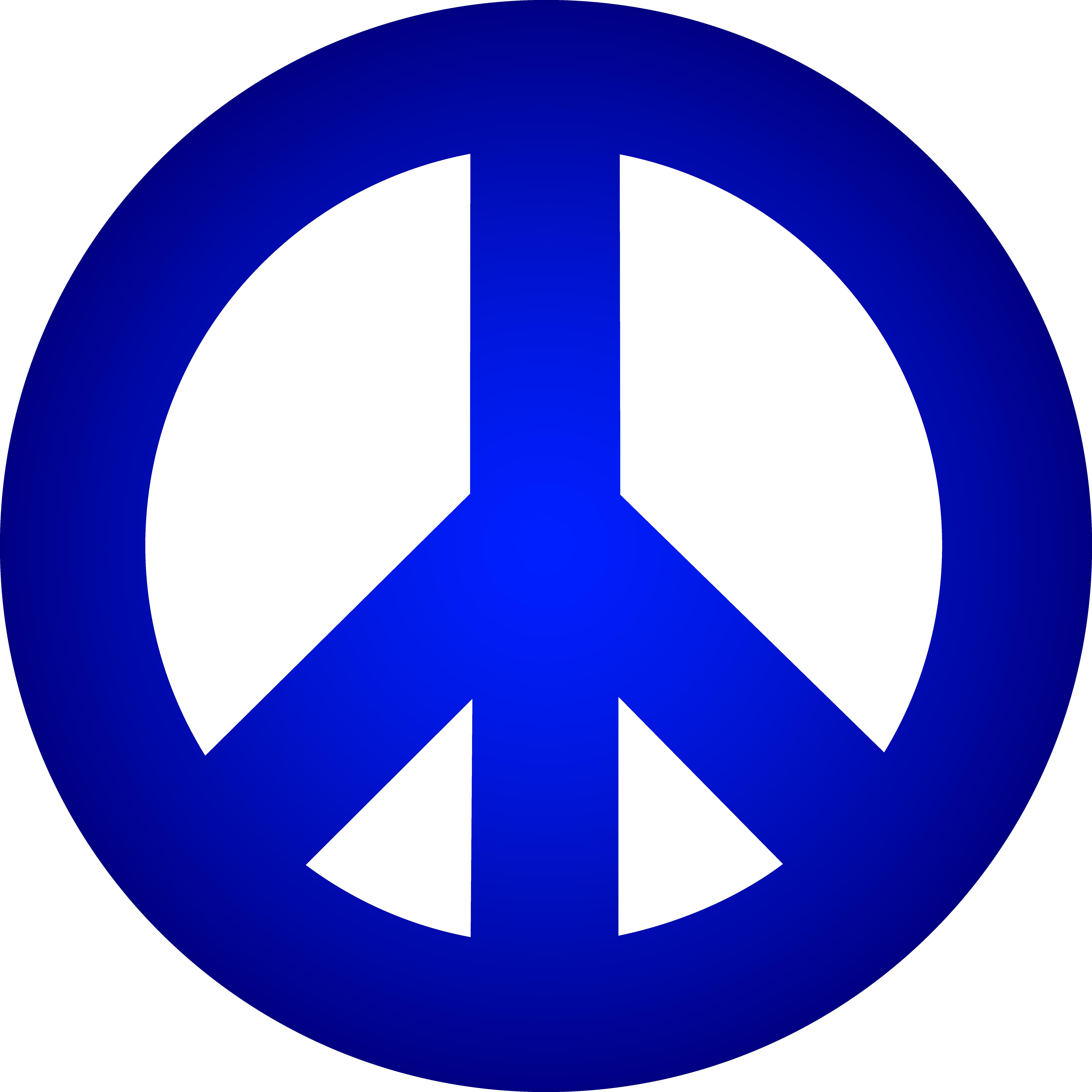 Blue Peace Sign.