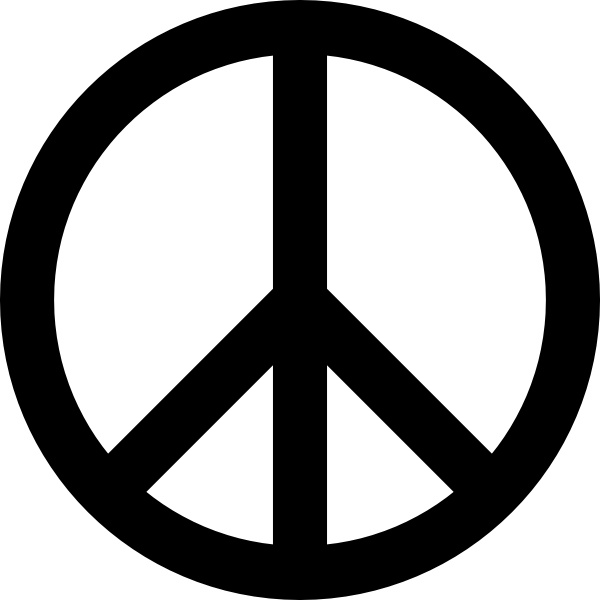 Peace Sign clip art Free vector in Open office drawing svg.