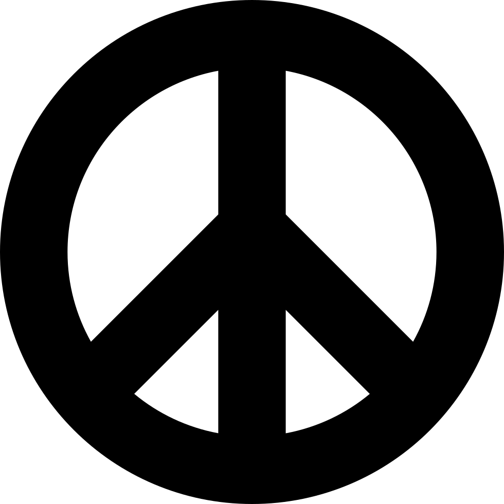 Peace Sign PNG Image.