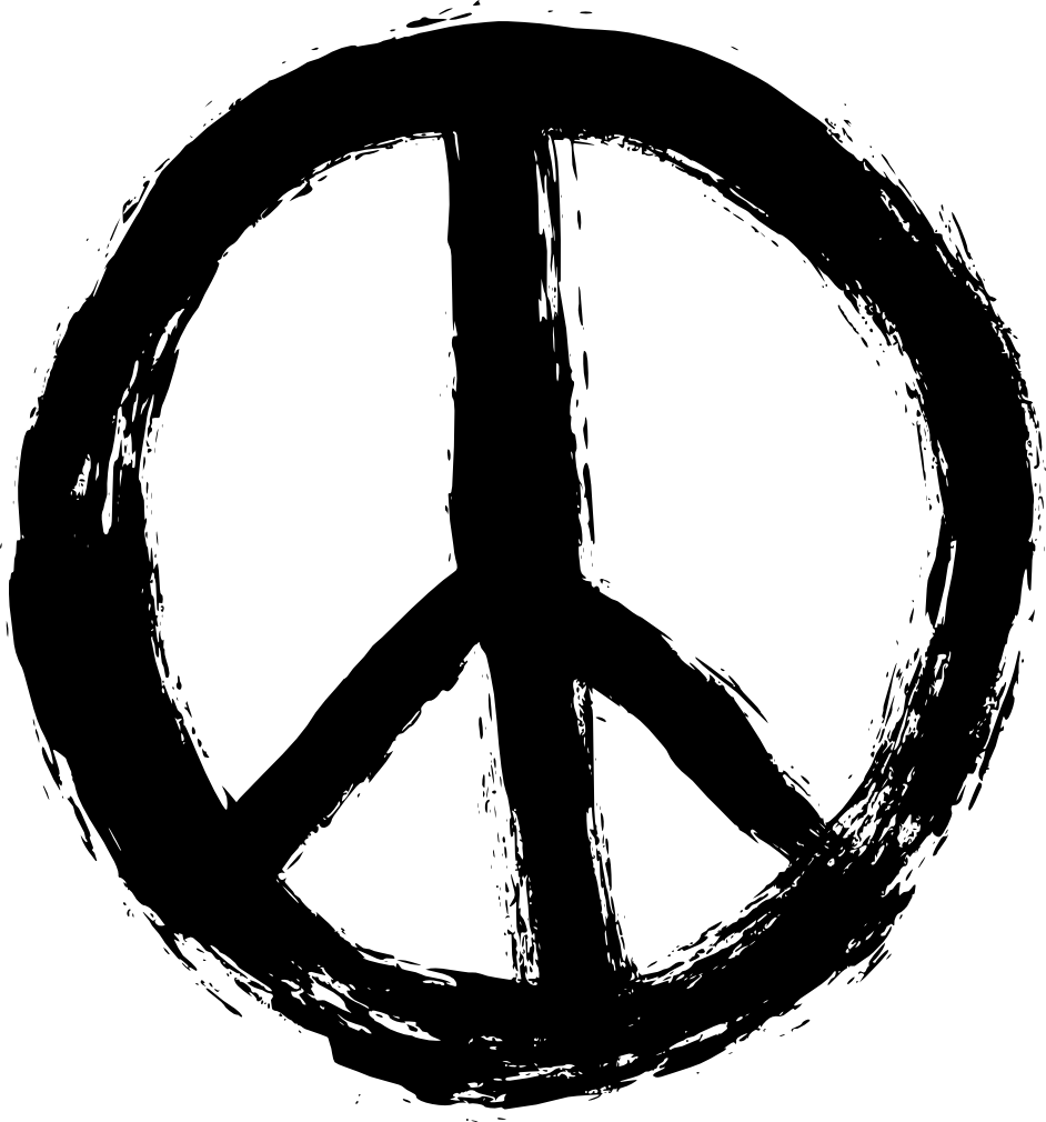 4 Grunge Peace Symbol (PNG Transparent).