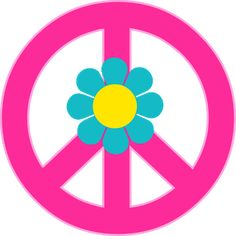peace sign with flowers clipart #8