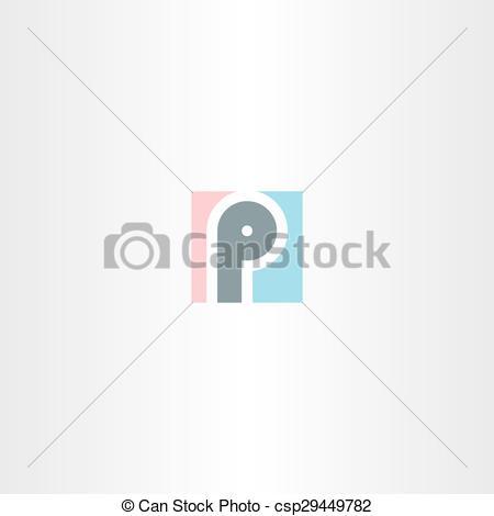 Vector of logo p square letter p sign design csp29449782.