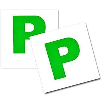Green P Square Car Magnet/Magnetic For New Drivers Badge Plate.