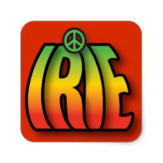 Rasta Symbols Stickers.